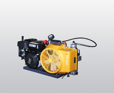 BAUER PE 100 breathing air compressor with petrol engine